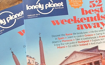 """Lonely Planet magazine """"Best 52 Weekends Away"""""""